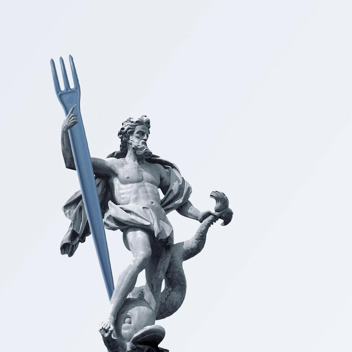 Poseidon doesn't like plastic